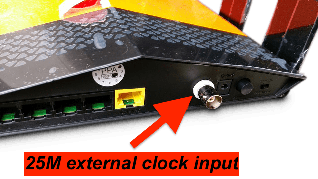 OCXO audiophile router - external clock input