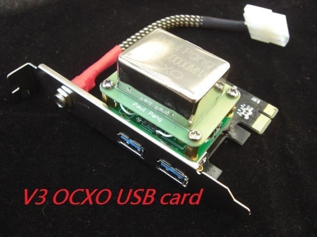 Audiophile USB-card V3 Paul Pang OCXO