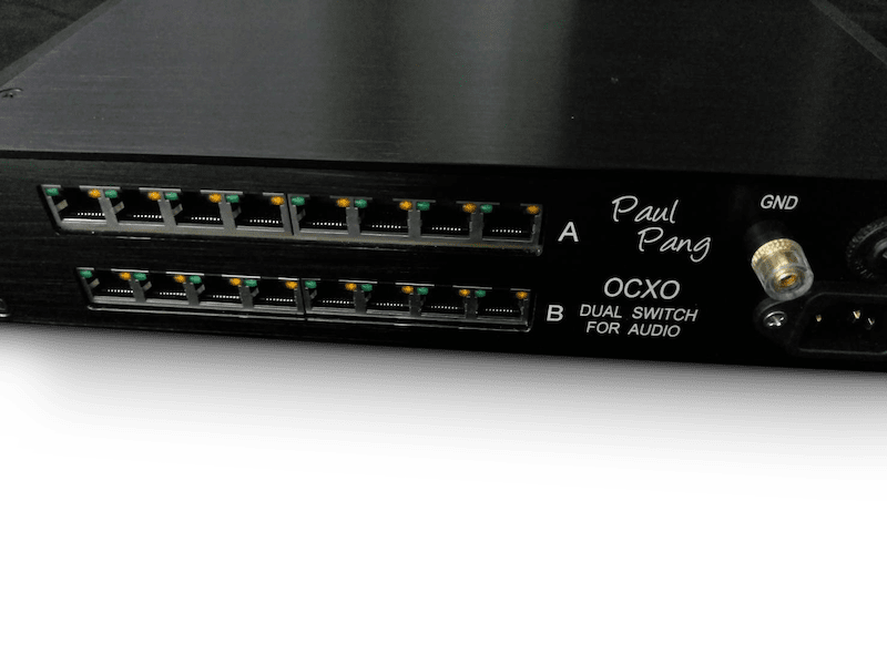 Dual OCXO switch - reference audiophile network switch