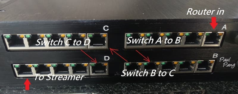 audiophile switch quad switch configuration