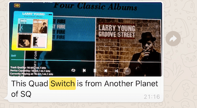 Client review audiophile switch quad switch - the sound quality is from another planet